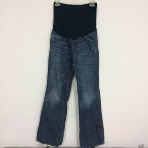 Liz Lange Maternity Sz 2 Medium Wash Blue Jeans